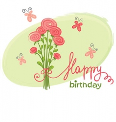 bouquet birthday vector image