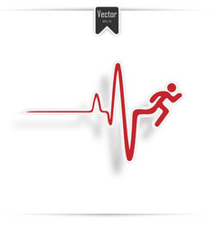 cardiogram of heart stop and death vector image