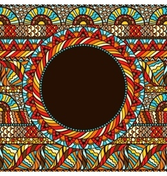Ethnic round pattern with hand drawn ornament vector image vector image