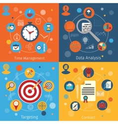 Modern web concepts set vector image