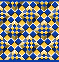 moving truncated pyramids on a checkered surface vector image vector image