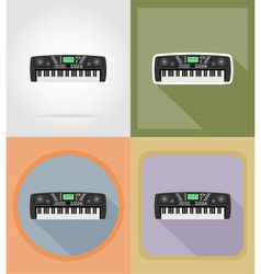 Music items and equipment flat icons 12 vector