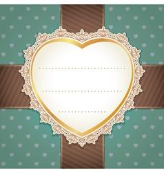 Valentine wedding card design vector image