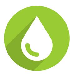 White ecology drop sign circle icon vector