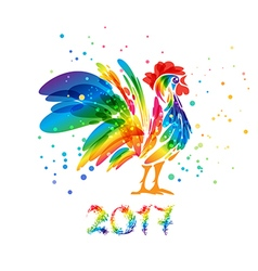 Year of rooster 2017 vector image vector image