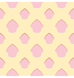 Abstract pink cupcake seamless pattern vector image vector image
