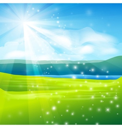 abstract summer landscape background vector image vector image