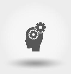 brain activity icon flat vector image