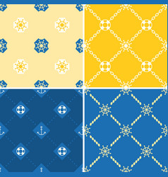 navy and nautical seamless pattern theme set 2 vector image