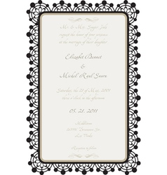 wedding card with lace details vector image vector image