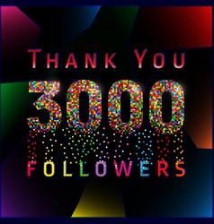3000 followers pixels vector