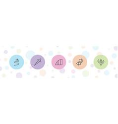 5 arrows icons vector