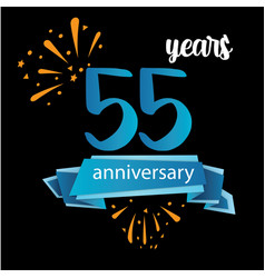 55 anniversary pictogram icon years birthday logo vector image