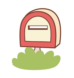 A letter box vector