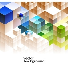 Abstract cubic banners vector