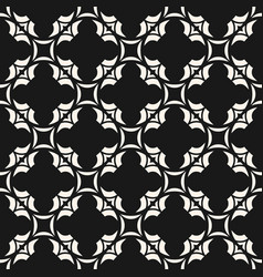 abstract floral seamless monochrome pattern vector image