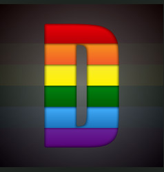 Abstract sign of rainbow lgbt community vector