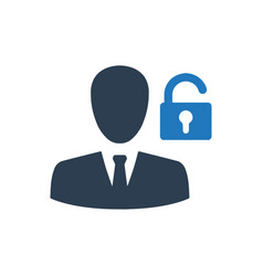 Account security icon vector