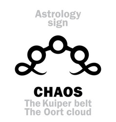 Astrology chaos the kuiper belt the oort cloud vector