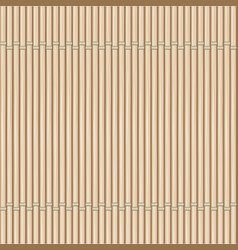 Bamboo mat background vector