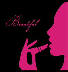 Beauty girl silhouette vector