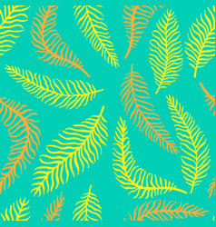 bright flower seamless pattern with fern vector image