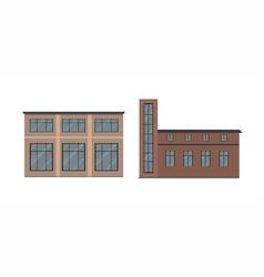 Buildings types vector