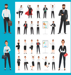 Business man and business woman office vector