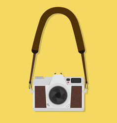 camera hanging flat style vintage vector image
