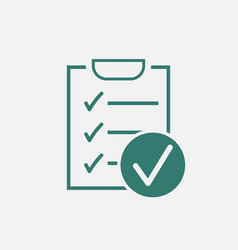 checklist icon survey in flat design on white vector image