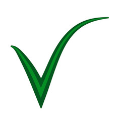 Double green check mark approval confirmation mark vector