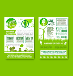 earth day green energy and nature ecology vector image
