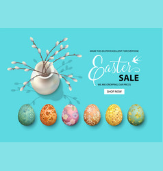 Easter holiday background vector