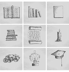 Education sketch icons vector