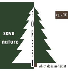 Environment protection deforestation vector