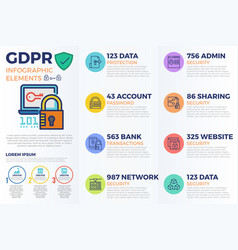 european gdpr general data protection regulation vector image