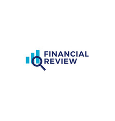 finance financial review bar chart logo icon vector image