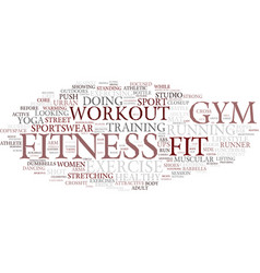 Fitness word cloud concept vector