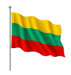 Flag of Lithuania vector image