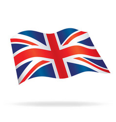 flowing united kingdom union jack flag vector image