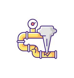 Gas leak rgb color icon vector