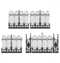 gate and fences vector image