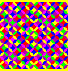 geometric seamless neon pattern vector image