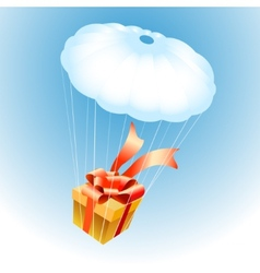 Gift on Parachute vector image vector image