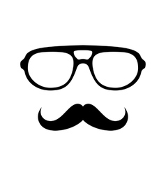 glasses with mustache vector image