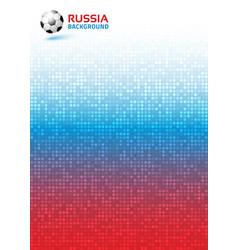 Gradient pixel background russia 2018 flag soccer vector