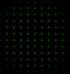 green grid crosses background repeatable vector image