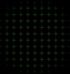 Green grid crosses background repeatable vector
