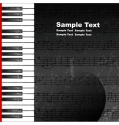 Grunge abstract background with piano keys vector image