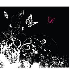grunge foliage vector image